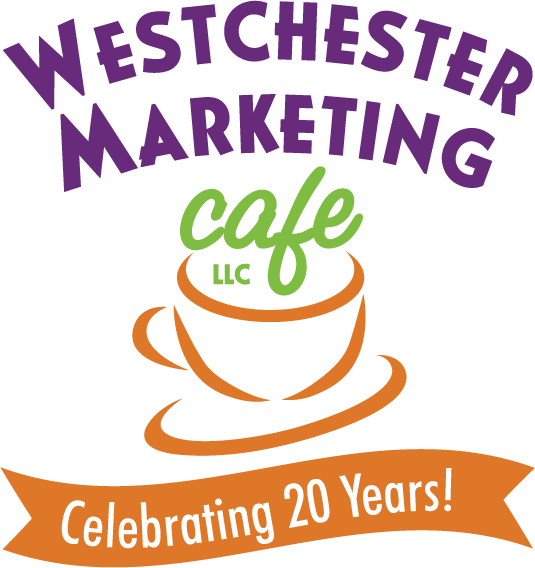 Westchester Marketing Cafe logo - celebrating 20 years!
