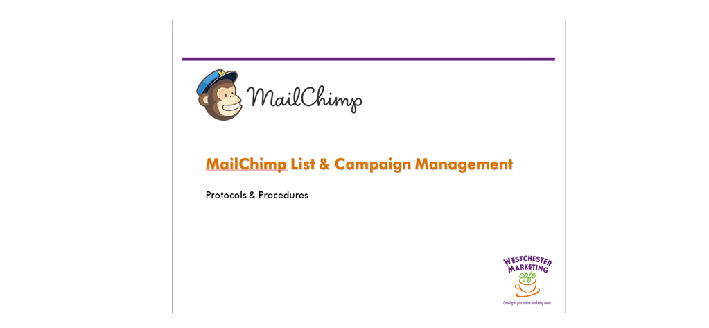 MailChimp Training