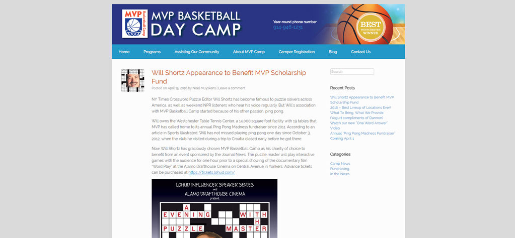 MVP Basketball Camp Website