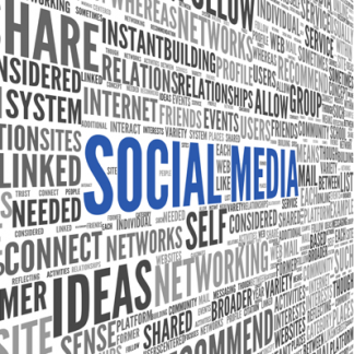 image of a jumbled of words related to social media jargon